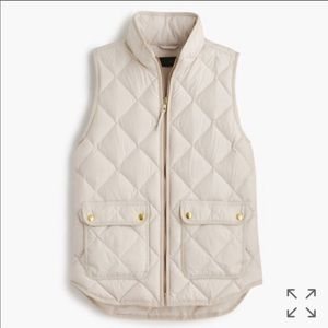 J. Crew Quilted Down Excursion Vest